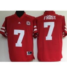 Nebraska Cornhuskers 7 Scott Frost Red College Football Jersey