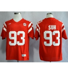Nebraska Cornhuskers 93 Ndamukong Suh Red College Football Jersey