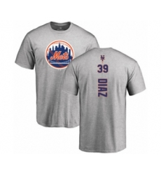 Baseball New York Mets #39 Edwin Diaz Ash Backer T-Shirt