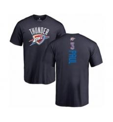 Basketball Oklahoma City Thunder #3 Chris Paul Navy Blue Backer T-Shirt