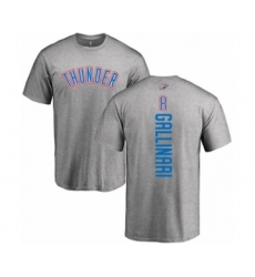 Basketball Oklahoma City Thunder #8 Danilo Gallinari Ash Backer T-Shirt