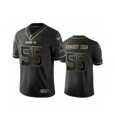 Men's Dallas Cowboys #55 Leighton Vander Esch Black Golden Edition Limited Player Football Jersey