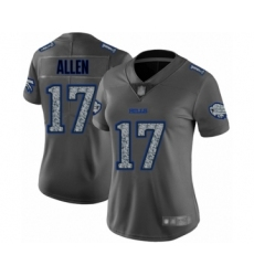 Women's Buffalo Bills #17 Josh Allen Limited Gray Static Fashion Football Jersey