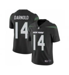 Men's New York Jets #14 Sam Darnold Black Alternate Vapor Untouchable Limited Player Football Jersey