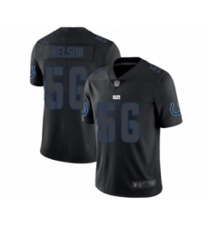 Men's Indianapolis Colts #56 Quenton Nelson Limited Black Rush Impact Football Jersey