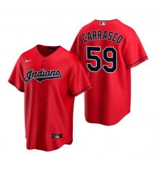 Men's Nike Cleveland Indians #59 Carlos Carrasco Red Alternate Stitched Baseball Jersey