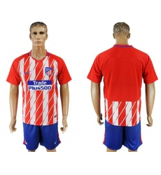 Atletico Madrid Blank Home Soccer Club Jersey4