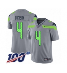 Men's Seattle Seahawks #4 Michael Dickson Limited Silver Inverted Legend 100th Season Football Jersey