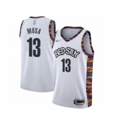 Men's Brooklyn Nets #13 Dzanan Musa Swingman White Basketball Jersey - 2019 20 City Edition