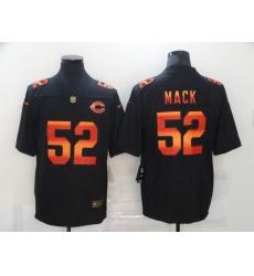 Men's Chicago Bears #52 Khalil Mack Black colorful Nike Limited Jersey
