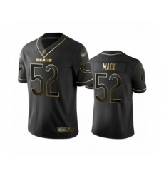 Men's Chicago Bears #52 Khalil Mack Limited Black Golden Edition Football Jersey
