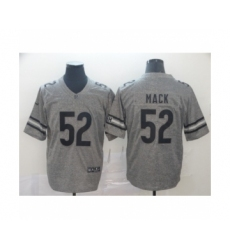 Men's Chicago Bears #52 Khalil Mack Limited Gray Rush Gridiron Football Jersey