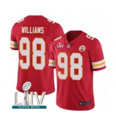 Men's Kansas City Chiefs #98 Xavier Williams Red Team Color Vapor Untouchable Limited Player Super Bowl LIV Bound Football Jersey
