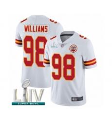 Men's Kansas City Chiefs #98 Xavier Williams White Vapor Untouchable Limited Player Super Bowl LIV Bound Football Jersey
