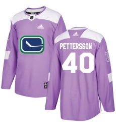 Men's Adidas Vancouver Canucks #40 Elias Pettersson Purple Authentic Fights Cancer Stitched NHL Jersey