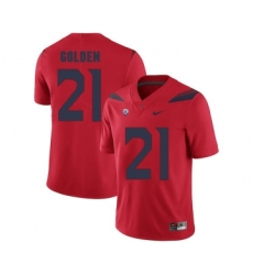 Arizona Wildcats 21 Robert Golden Red College Football Jersey