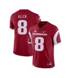 Arkansas Razorbacks 8 Austin Allen Red College Football Jersey