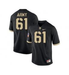 Army Black Knights 61 Joe Steffy Black College Football Jersey