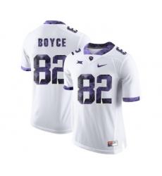 TCU Horned Frogs 82 Josh Boyce White Print College Football Limited Jersey