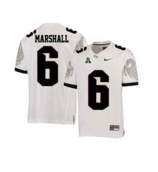 UCF Knights 6 Brandon Marshall White College Football Jersey