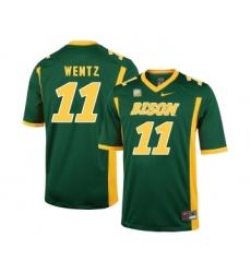 North Dakota State Bison 11 Carson Wentz Green College Football Jersey