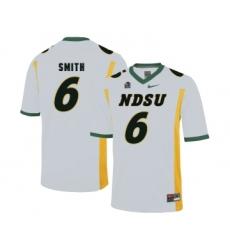 North Dakota State Bison 6 Zach Smith White College Football Jersey