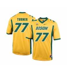 North Dakota State Bison 77 Billy Turner Gold College Football Jersey