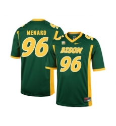 North Dakota State Bison 96 Greg Menard Green College Football Jersey
