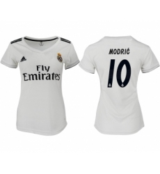 2018-19 Real Madrid 10 MODRIC Home Women Soccer Jersey