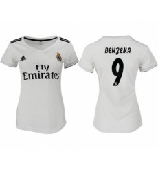 2018-19 Real Madrid 9 BENGEMA Home Women Soccer Jersey