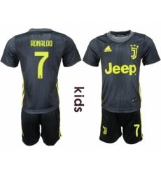 2018-19 Juventus 7 RONALDO Third Away Youth Soccer Jersey