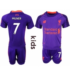2018-19 Liverpool 7 MILNER Away Youth Soccer Jersey