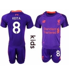 2018-19 Liverpool 8 KEITA Away Youth Soccer Jersey