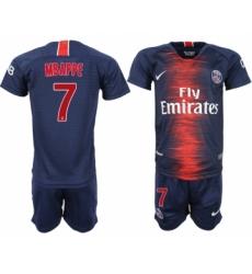 2018-19 Paris Saint-Germain 7 MBAPPE Home Youth Soccer Jersey