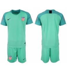 2018-19 USA Green Goalkeeper Soccer Jersey