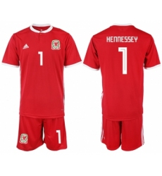 2018-19 Welsh 1 HENNESSEY Home Soccer Jersey