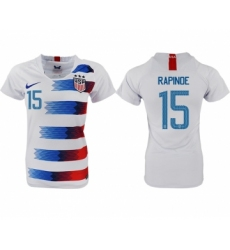 2018-19 USA 15 RAPINOE Home Women Soccer Jersey