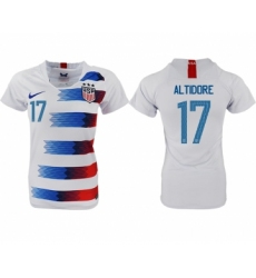 2018-19 USA 17 ALTIDORE Home Women Soccer Jersey