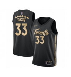 Men's Toronto Raptors #33 Marc Gasol Swingman Black Basketball Jersey - 2019 20 City Edition