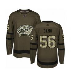 Men's Columbus Blue Jackets #56 Marko Dano Authentic Green Salute to Service Hockey Jersey