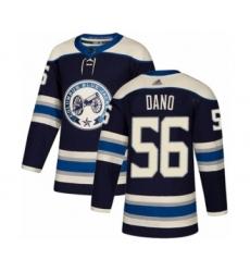 Men's Columbus Blue Jackets #56 Marko Dano Authentic Navy Blue Alternate Hockey Jersey