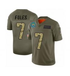 Men's Jacksonville Jaguars #7 Nick Foles Limited Olive Camo 2019 Salute to Service Football Jersey