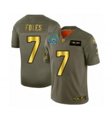 Men's Jacksonville Jaguars #7 Nick Foles Olive Gold 2019 Salute to Service Limited Football Jersey