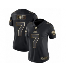Women's Jacksonville Jaguars #7 Nick Foles Black Gold Vapor Untouchable Limited Football Jersey