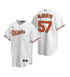 Men's Nike Baltimore Orioles #57 Hanser Alberto White Home Stitched Baseball Jersey