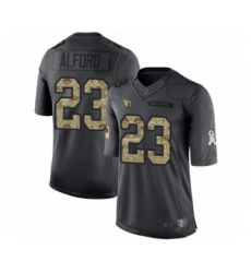 Youth Arizona Cardinals #23 Robert Alford Limited Black 2016 Salute to Service Football Jersey