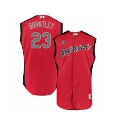 Men's Houston Astros #23 Michael Brantley Authentic Red American League 2019 Baseball All-Star Jersey