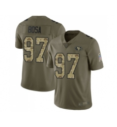 Youth San Francisco 49ers #97 Nick Bosa Limited Olive Camo 2017 Salute to Service Football Jersey