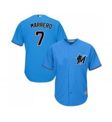 Men's Miami Marlins #7 Deven Marrero Replica Blue Alternate 1 Cool Base Baseball Jersey