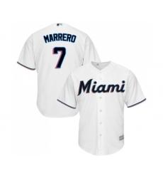 Youth Miami Marlins #7 Deven Marrero Replica White Home Cool Base Baseball Jersey